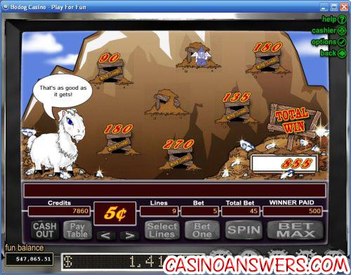Super Diamond Mine Casino Bonus Game
