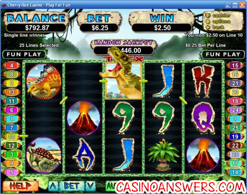 t-red video slot