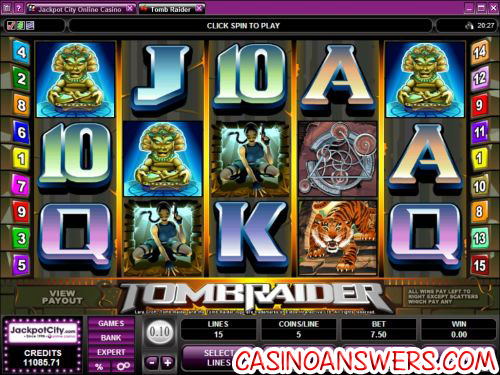 tomb raider video slot 1