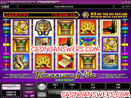treasure nile progressive jackpot slot
