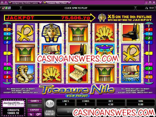 treasure nile progressive jackpot slot