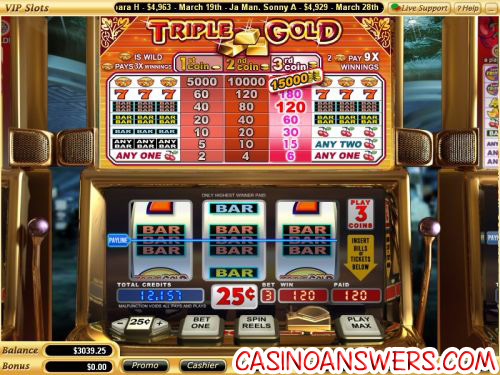 triple gold classic slot machine