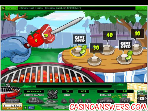 ultimate grill thrills casino bonus game