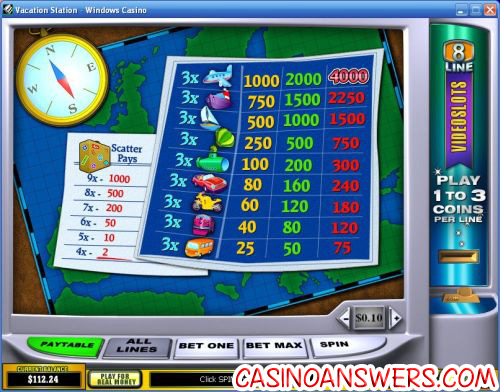 vacation station video slot bonus game