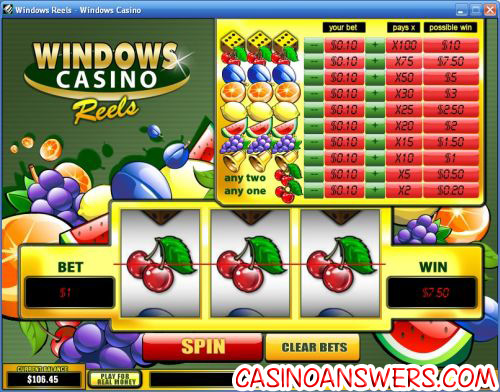 windows casino exclusive slot