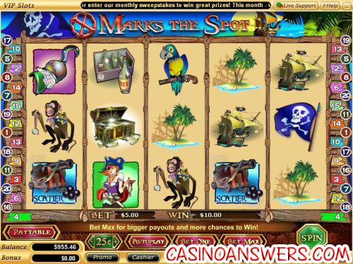 x marks the spot slot machine