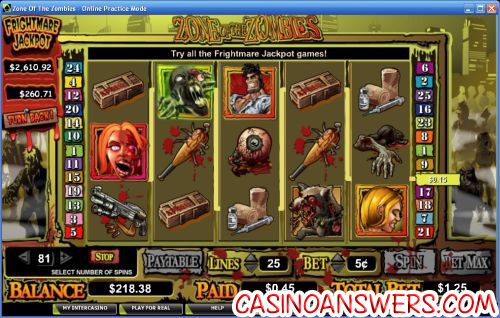 zone of the zombies video slot 1