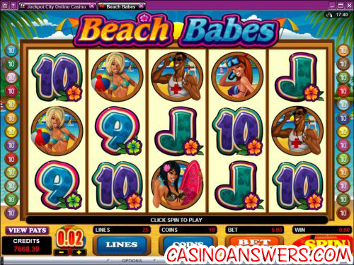 beach babes video slot