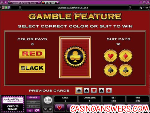 bell rock video slot bonus game