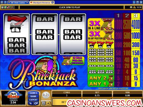 blackjack bonanza classic slot