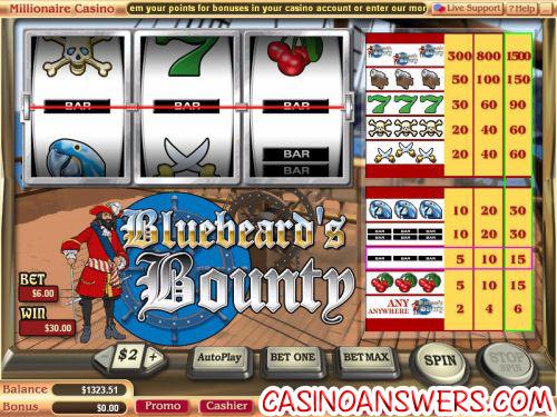bluebeards bounty classic slot