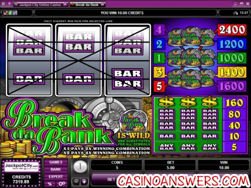 break da bank slot machine
