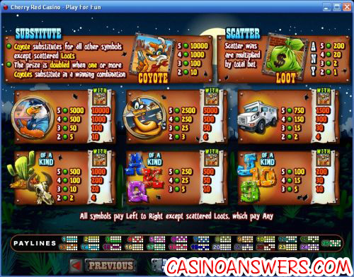 coyote cash video slot 2