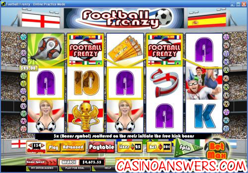 football frenzy video slot