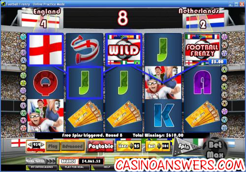 football frenzy video slot bonus game