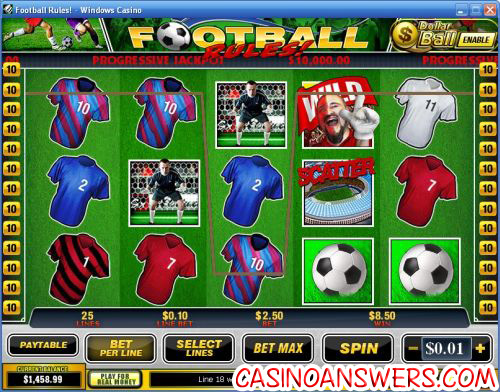 football rules slot machine