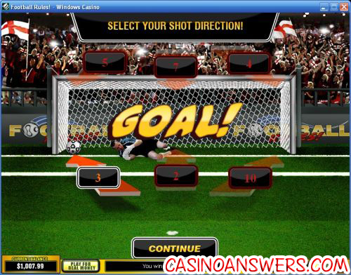 football rules video slot bonus game