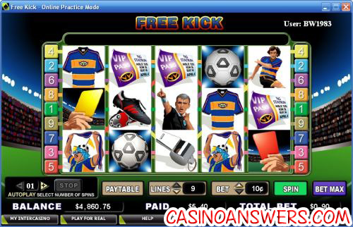 free kick video slot