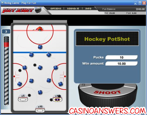 hockey potshot speciality game ctxm