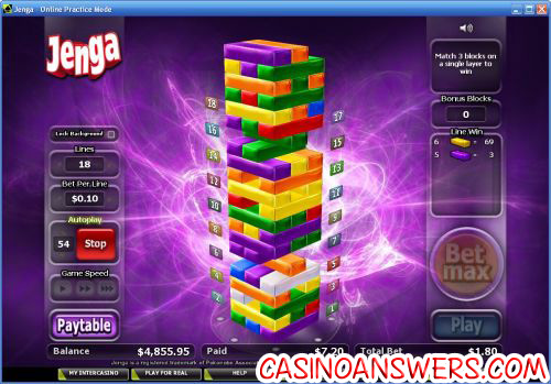 Jenga™ Slot Machine Game to Play Free in PartyGamings Online Casinos
