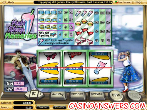 malt shop memories classic slot