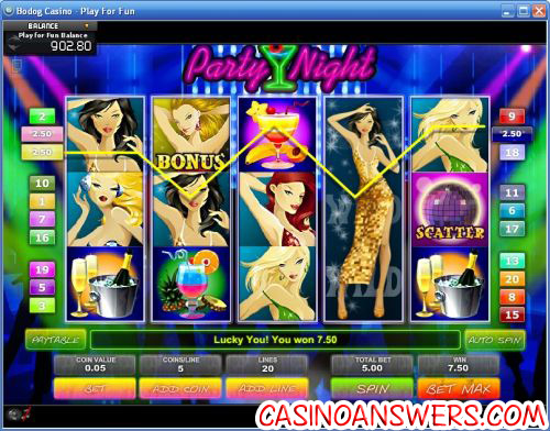 party night video slot ctxm