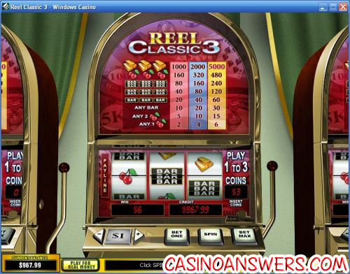 top 3 reels slot machine