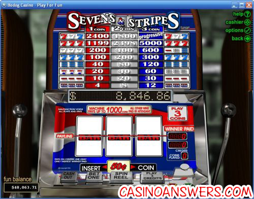 sevens and stripes classic slot