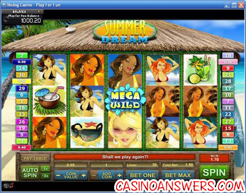 summer dream video slot