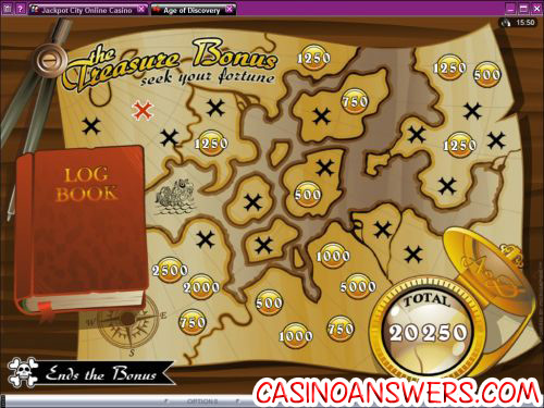 age of discovery video slot bonus game