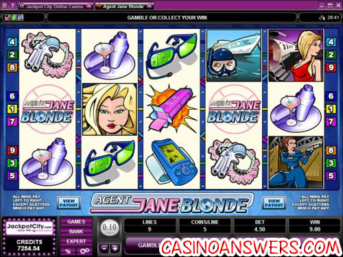 agent jane blonde video slot
