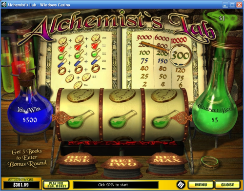 alchemists lab classic slot