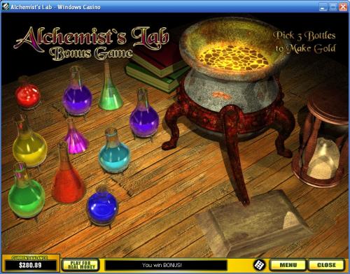 alchemists lab classic slot bonus game