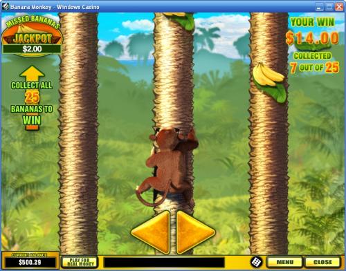 banana monkey slot bonus game
