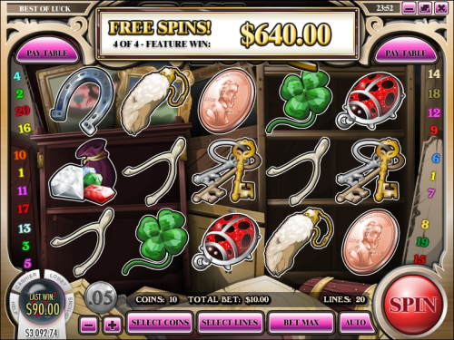 best of luck video slot