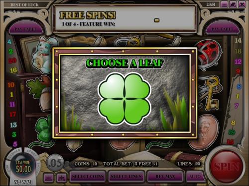 best of luck slot bonus game