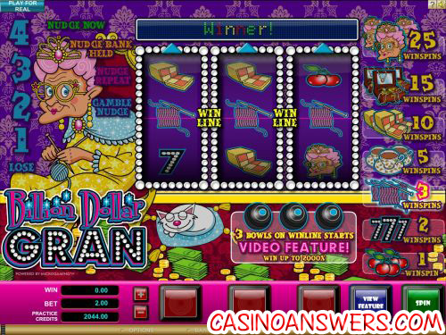 billion dollar gran microgaming fruit machine