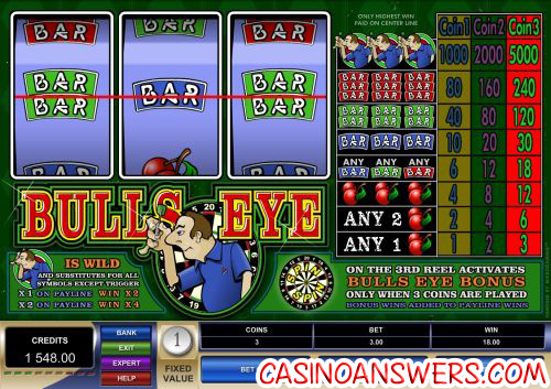bulls eye microgaming classic slot