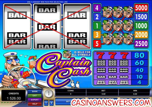 captain cash microgaming video slot