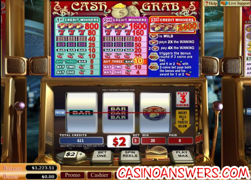 cash grab vegas tech slot