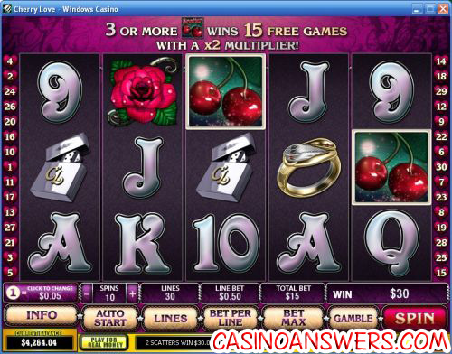 cherry love playtech video slot