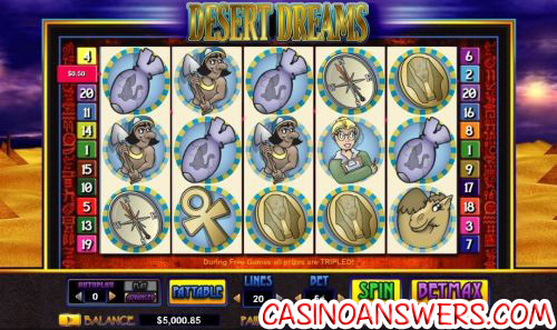 desert dreams video slot