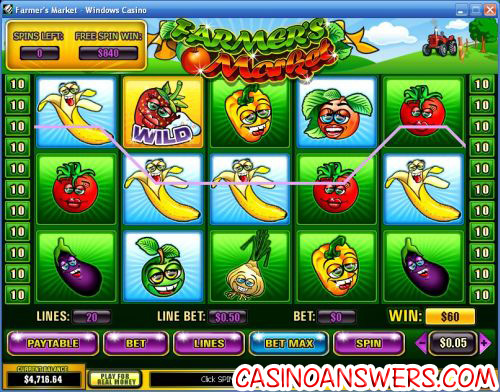 farmers market playtech video slot