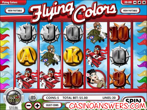 flying colors video slot rival