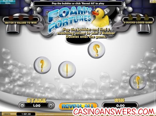 foamy fortunes scratch card