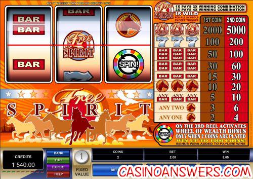 free spirit slot machine