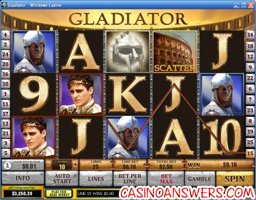 gladiator playtech video slot