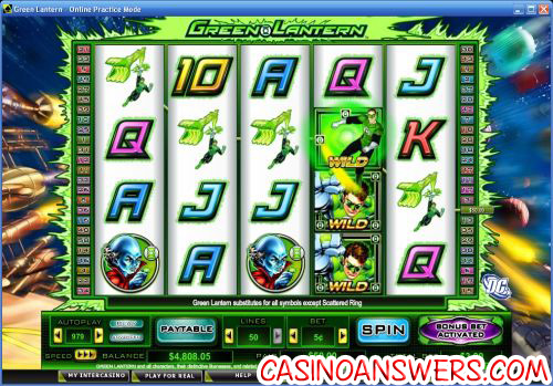 green lantern dc video slot