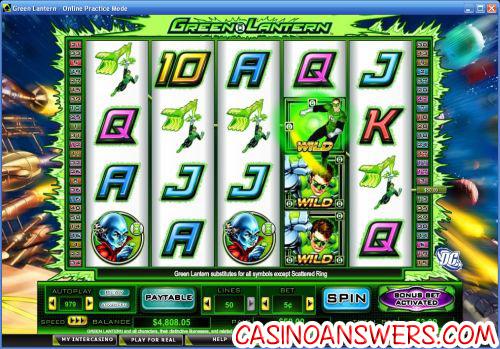 green lantern dc video slot