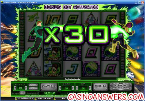green lanteron bonus game